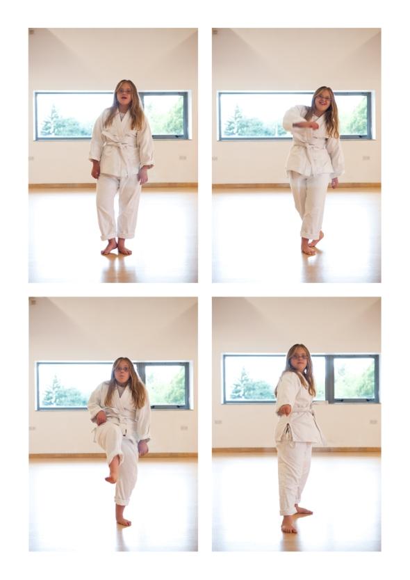 Billie-Jo at karate.