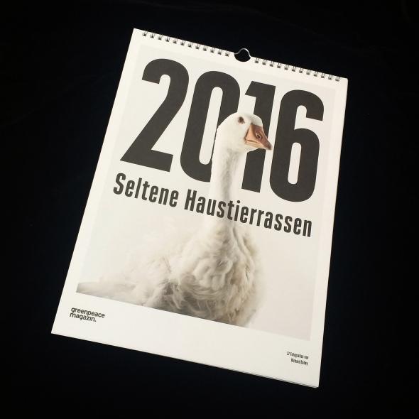German Greenpeace Magazine Calendar 2016