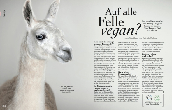 Llama in German Magazine